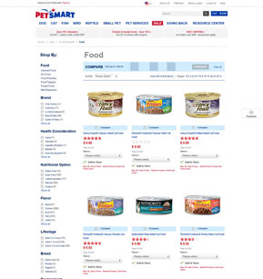 PetSmart - Category Page